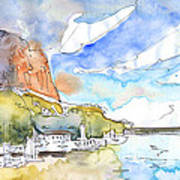 Calpe Harbour 06 Art Print