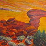 Camel Rock Art Print