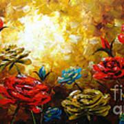 Camellias Art Print by Uma Devi