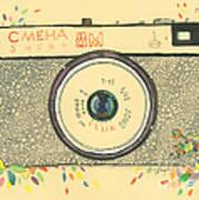 Cameras Retro Art Print