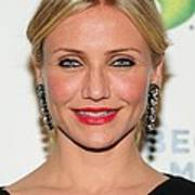 Cameron Diaz Wearing Lanvin Earrings Art Print by Everett