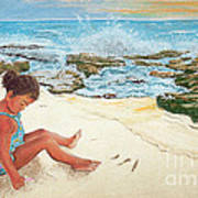 Camila And The Carribean Sea Art Print