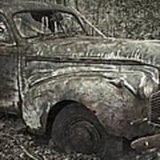 Camouflage Classic Car Art Print
