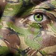 Camouflage Warrior Art Print