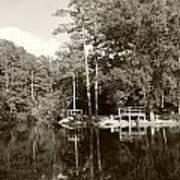 Camp Lake Art Print