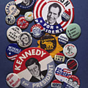 Campaign Buttons Art Print by Granger