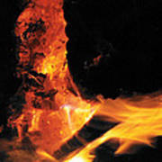 Campfire Apparition  Art Print
