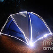 Camping Print by Ted Kinsman