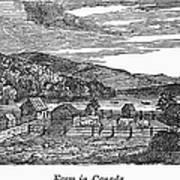 Canada: Farm, C1820 Art Print