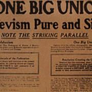 Canada: One Big Union, 1919 Art Print