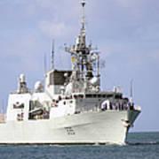 Canadian Navy Halifax-class Frigate Art Print