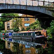 Canal Boats Art Print
