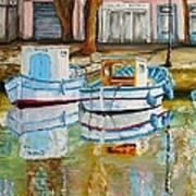 Canal De Martigues Art Print
