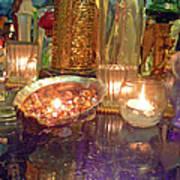 Candle Light Reflections  Art Print
