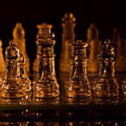 Candle Lit Chess Men Art Print