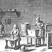 Candlemaking, 18th Century Art Print