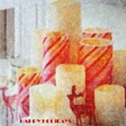 Candles For Xmas Art Print