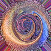 Candy Stripe Planet Art Print