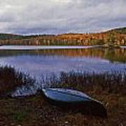 Canoe At Black Lake Art Print