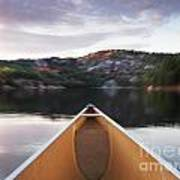 Canoeing In Ontario Provincial Park Art Print