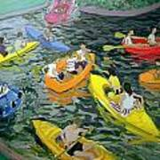 Canoes Art Print by Andrew Macara