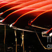 Canoes Of Red Art Print