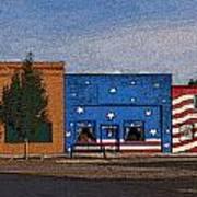 Canon City Facades - Posterized Art Print