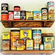 Cans Of Old Art Print