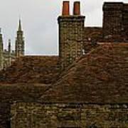 Canterbury Rooftops Art Print