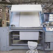 Canvas Trimming Machine Art Print