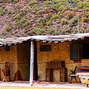 Southwest Canyon Hacienda Art Print