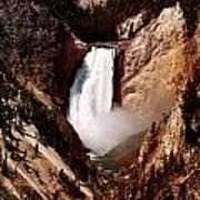 Canyon Of Yellowstone Falls Art Print
