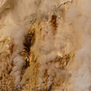 Canyon Steam Vents In Yellowstone National Park Art Print