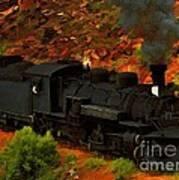 Canyon Train Art Print