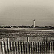 Cape May Light House In Sepia Art Print