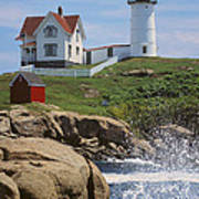 Cape Neddick Nubble Lighthouse Maine Art Print by Jeff Clinedinst