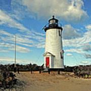 Cape Pogue Lighthouse Marthas Vineyard Art Print