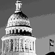 Capitol Dome Bw10 Art Print