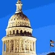 Capitol Dome Color 16 Art Print