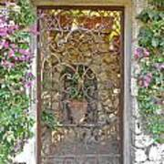 Capri-timeless Gate Art Print by Italian Art