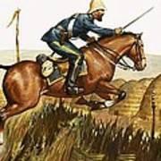 Captain Beresford In The Zulu Wars Art Print