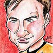 Captain James T. Kirk Art Print by Big Mike Roate