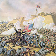 Capture Of Fort Fisher 15th January 1865 Art Print