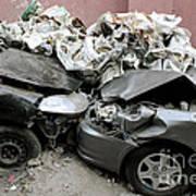 Car Crash In Cairo Art Print