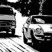 Car Passing Nr 2 Art Print by Giuseppe Cristiano