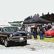 Car Show Gasser Art Print by Steve McKinzie