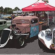 Car Show Hot Rods Art Print by Steve McKinzie