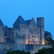 Carcassonne At Twilight Art Print