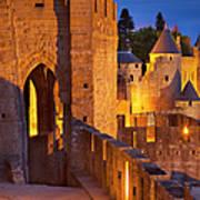 Carcassonne Ramparts Art Print