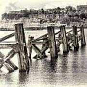 Cardiff Bay Old Jetty Supports Opal Art Print